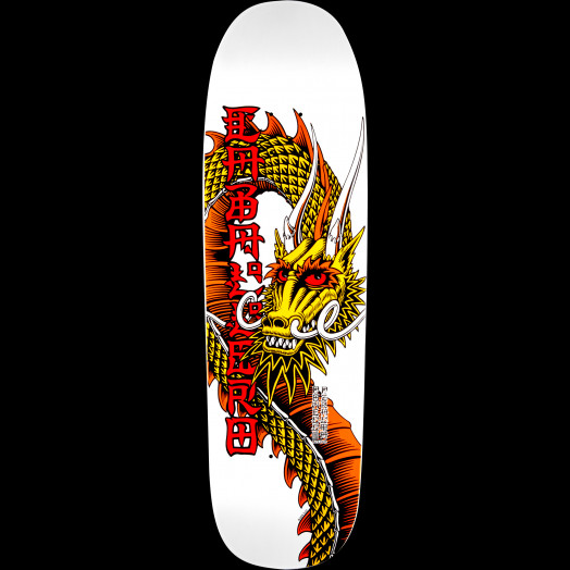 Powell Peralta Caballero Ban This Dragon Skateboard Blem Deck White - 9.26 x 32