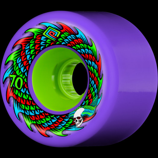 Powell Peralta Soft Slide Skateboard Wheel 70mm 75A 4pk Purple