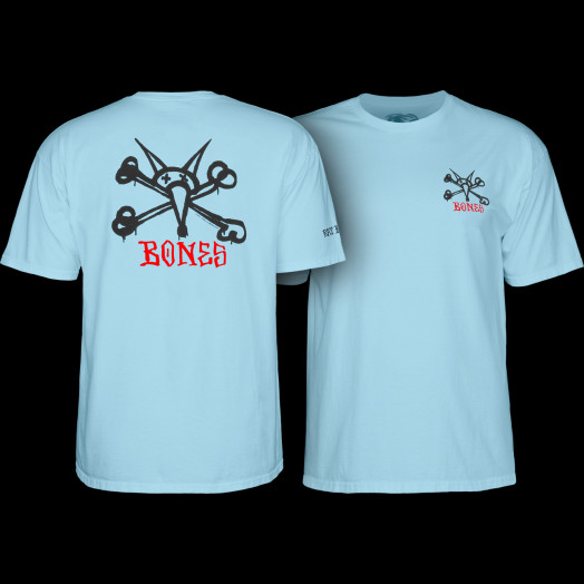 Powell Peralta Rat Bones T-shirt - Powder Blue