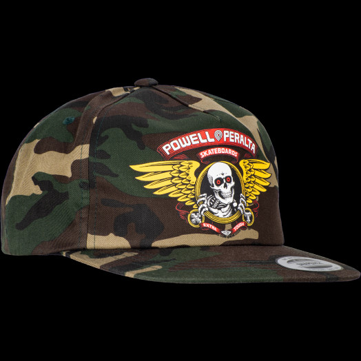 Powell Peralta Winged Ripper Snap Back Cap - Camo