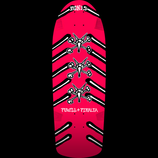 Powell Peralta OG Rat Bones Skateboard Deck Pink 10 x 30