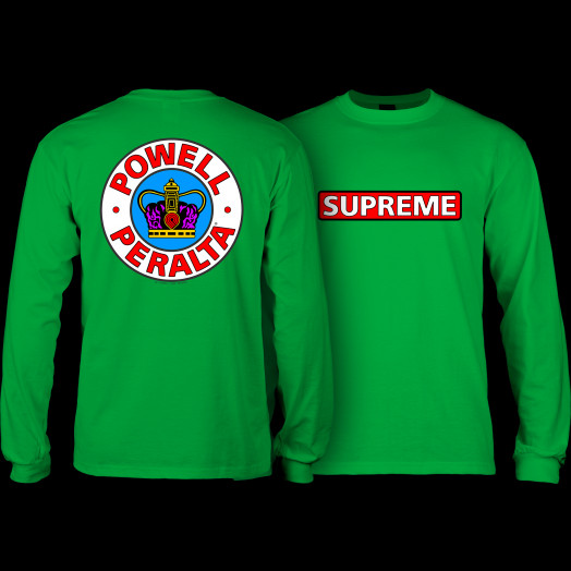 Powell Peralta Supreme L/S T-shirt - Kelly Green
