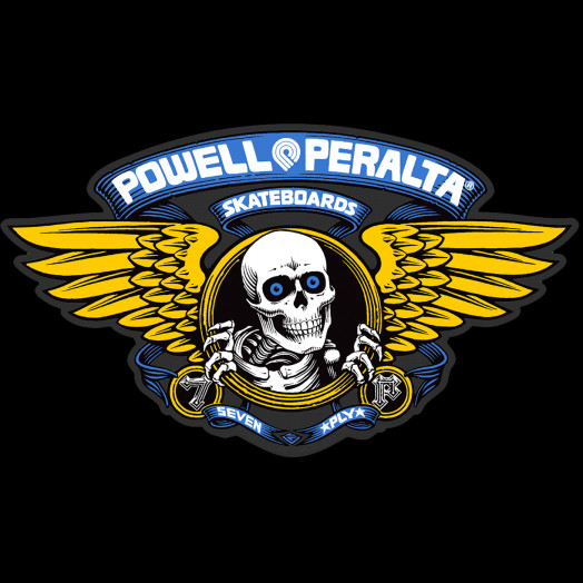 "Powell Peralta Winged Ripper 12"" Die-Cut Ramp Sticker - BLUE"