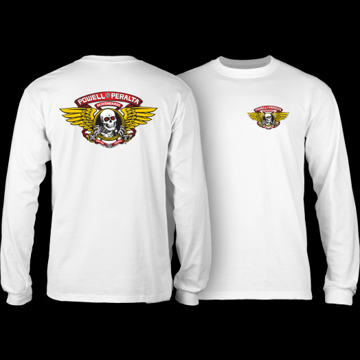 Powell Peralta Winged Ripper L/S T-shirt White