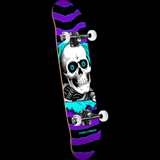 Powell Peralta Ripper One Off Skateboard Purple/Turq - 8 x 32.125