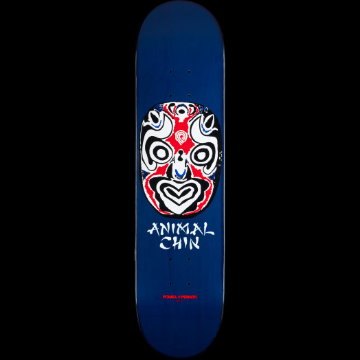 Powell Peralta Chin Mask Skateboard Deck Navy - 8 x 31.25