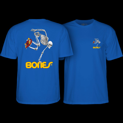 Powell Peralta Skateboard Skeleton Youth T-Shirt Royal Blue