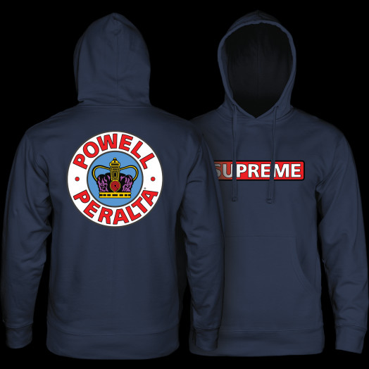Powell Peralta Supreme Hooded Sweatshirt Mid Weight Navy