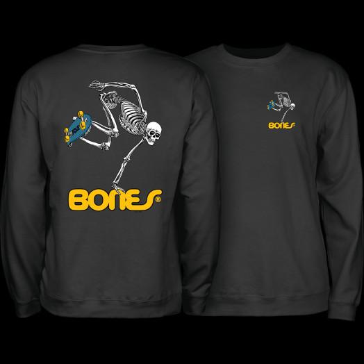 Powell Peralta Skateboard Skeleton Crew Sweatshirt Mid Weight Black