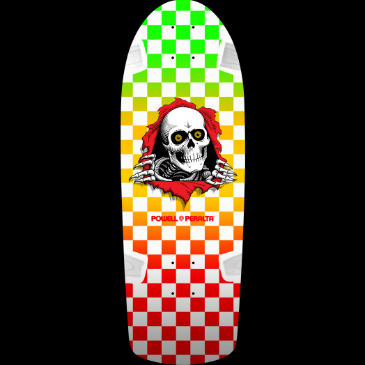 Powell Peralta OG Ripper Skateboard Deck Checker Multi Color- 10 x 30