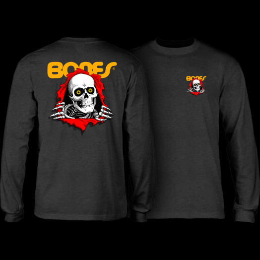 Powell Peralta Ripper Youth L/S Shirt Charcoal Heather