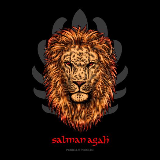 Powell Peralta Salman Agah Lion Sticker (20 pack)