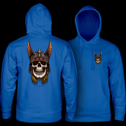 Powell Peralta Anderson Skull Hooded Sweatshirt Royal Blue