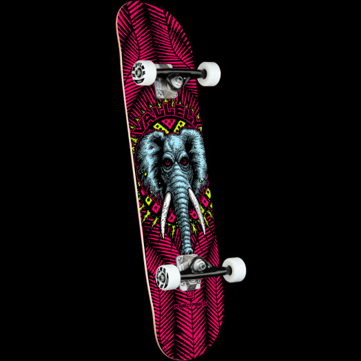 Powell Peralta Vallely Elephant One Off Red Birch Complete Skateboard - 8.25 x 31.95