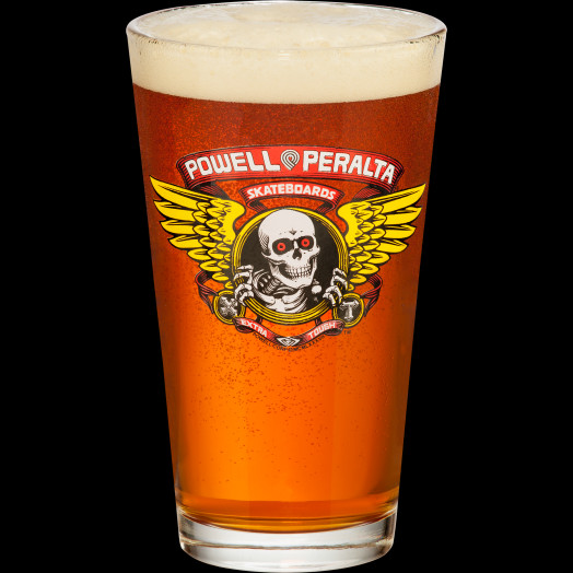 Powell Peralta Winged Ripper Pint Glass