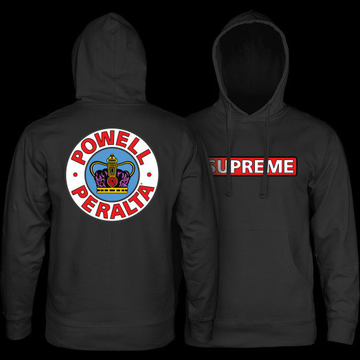 325dcc345c32 Powell Peralta Supreme Hooded Sweathsirt Black - Powell-Peralta®
