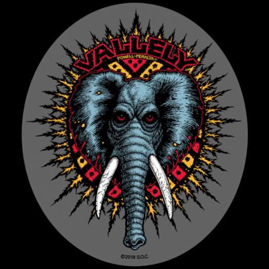 Powell Peralta Vallely Elephant Sticker 20pk