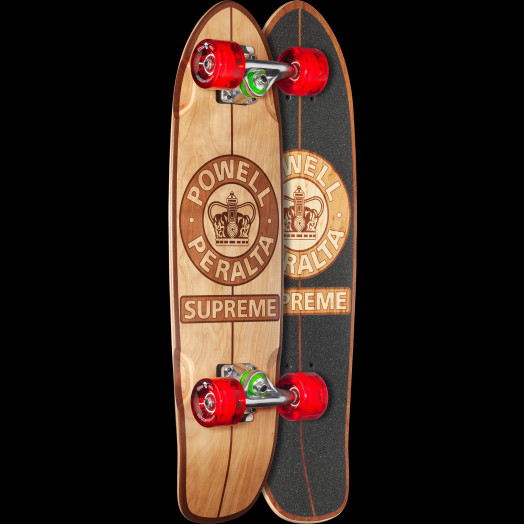 Powell Peralta Sidewalk Surfer Supreme Natural Skateboard Cruiser Assembly - 7.75 x 27.20 WB 14.0