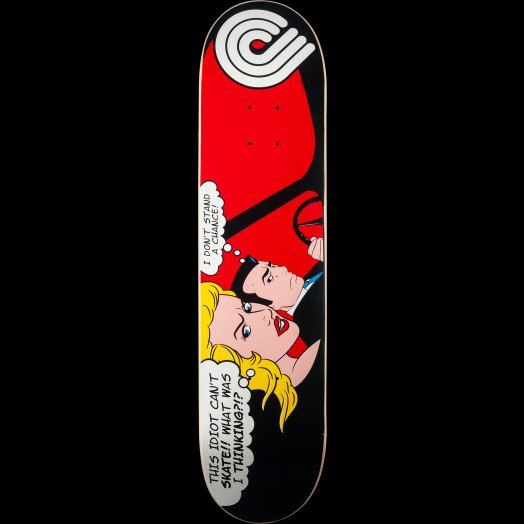 Powell Peralta Pop Art Skateboard Deck Red - 7.625 x 31.5