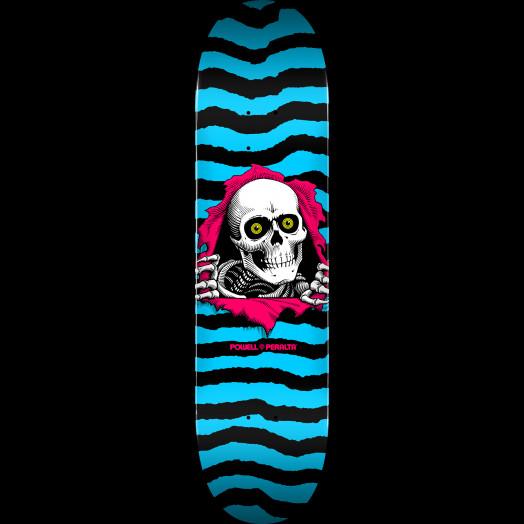 Powell Peralta Ripper Skateboard Deck Aqua - Shape 243 - 8.25 x 31.95