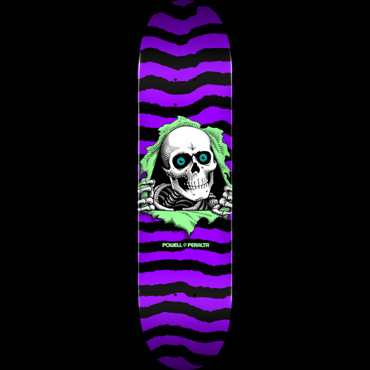 Powell Peralta Ripper Skateboard Deck Purple - Shape 244 - 8.5 x 32.08