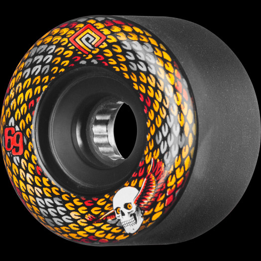Powell Peralta Snakes Skateboard Wheels 69mm 75A 4pk Black