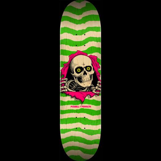 Powell Peralta Ripper Skateboard Deck Natural Green - Shape 246 - 9 x 32.95