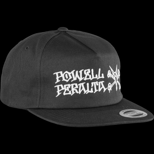 f63a1a529e6 Powell Peralta Rat Bones Snapback Cap Black - Powell-Peralta®