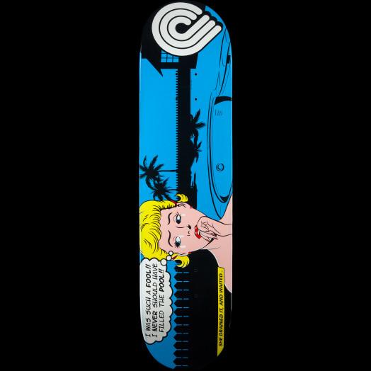 Powell Peralta Pop Art Skateboard Deck Blue - 8 x 31.25