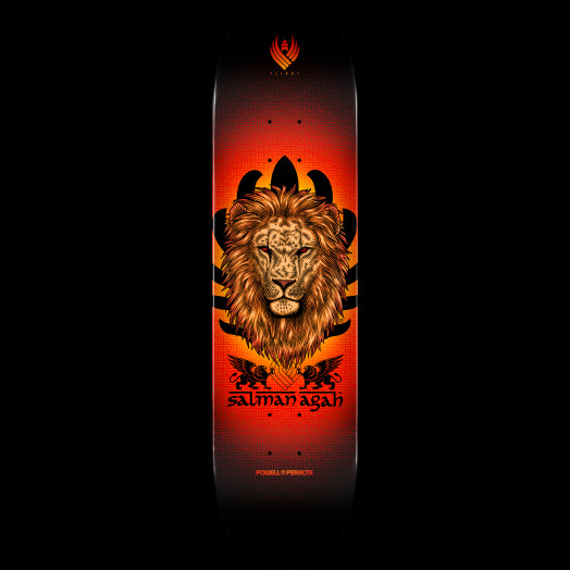 Powell Peralta Flight Salman Agah Lion Skateboard Deck - 8 x 31.45