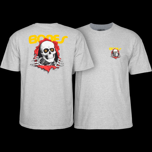 Powell Peralta Ripper YOUTH T-shirt - Athletic Heather Gray