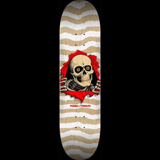 Powell Peralta Ripper Skateboard Deck Natural White - Shape 247 - 8 x 31.45