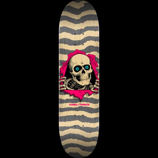 """Powell Peralta Ripper Skateboard Blem Deck Natural Gray K20 - 8.25"""" x 31.95"""""""