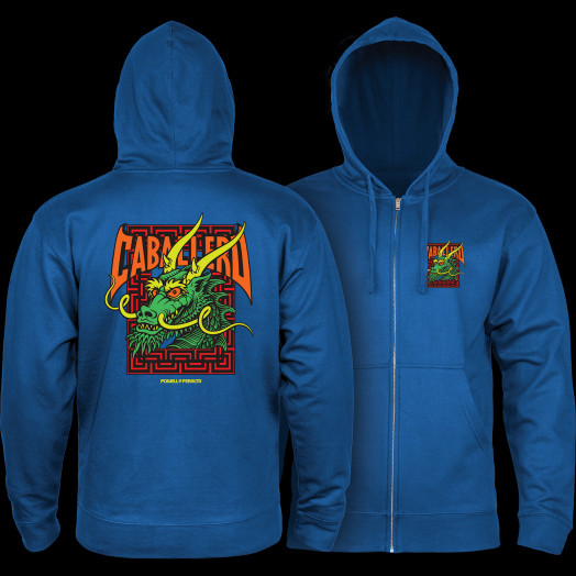 Powell Peralta Cab Street Hooded Zip Sweatshirt - Royal Blue