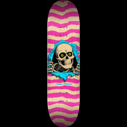 Powell Peralta Ripper Skateboard Deck Natural Pink - Shape 249 - 8.5 x 32.08