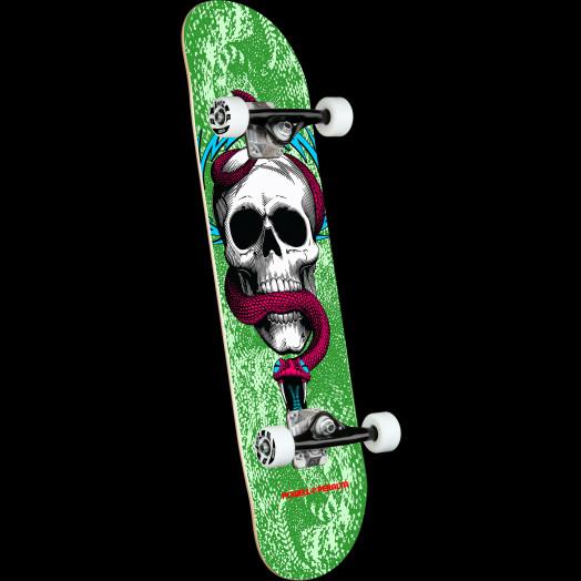 Powell Peralta Skull & Snake Green Birch Complete Skateboard - 7.75 x 31.08