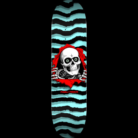 Powell Peralta Ripper Skateboard Deck Pastel Blue - Shape 249 - 8.5 x 32.08