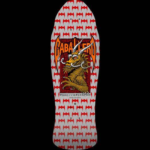 Powell Peralta Pro Steve Caballero Street Skateboard Deck SILVER - 9.625 x 29.75