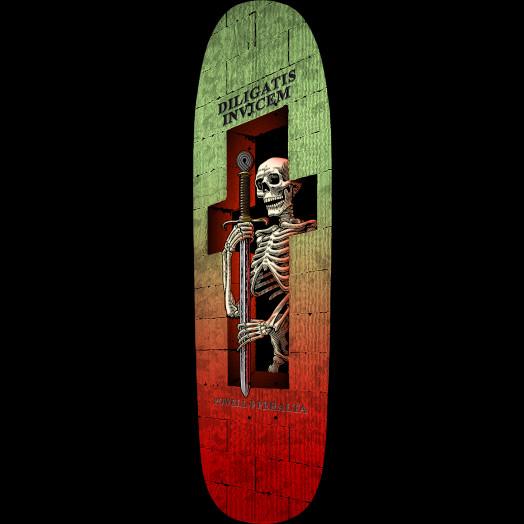 Powell Peralta Funshape Diligatis 3 Skateboard Deck Green/Red - 8.4 X 31.5