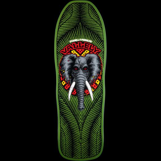 Powell Peralta Mike Vallely Elephant Blem Skateboard Deck Green 163 SP3