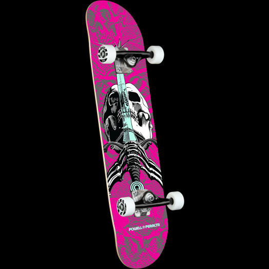 Powell Peralta Skull & Sword Pink Complete Skateboard - 7.5 x 28.65