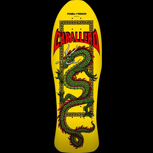 Powell Peralta Steve Caballero Chinese Dragon Skateboard Deck Yellow - 10 x 30