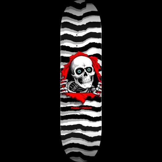 Powell Peralta Ripper Skateboard Deck Pastel White - Shape 247 - 8 x 31.45