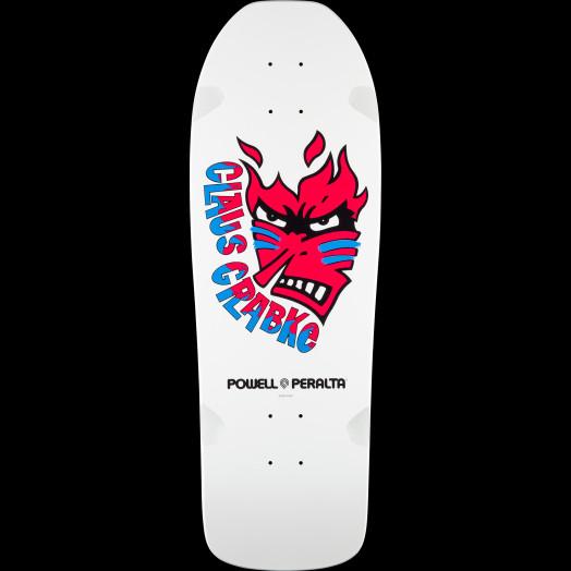 Powell Peralta Claus Grabke Skateboard Deck White - Shape 287 SP0 - 10.25 x 30.5