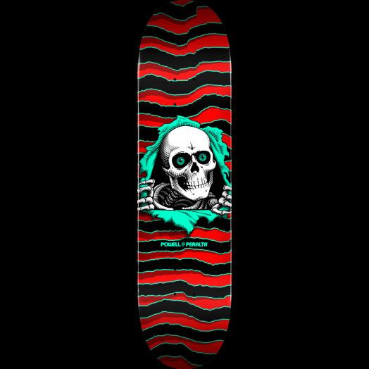 "Powell Peralta Ripper Skateboard Deck Red Shape 112 - 7.73"" x 31.26"