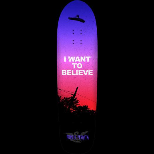 Powell Peralta Funshape Believe 4 Skateboard Deck Purple Fade - 8.6 x 31.66