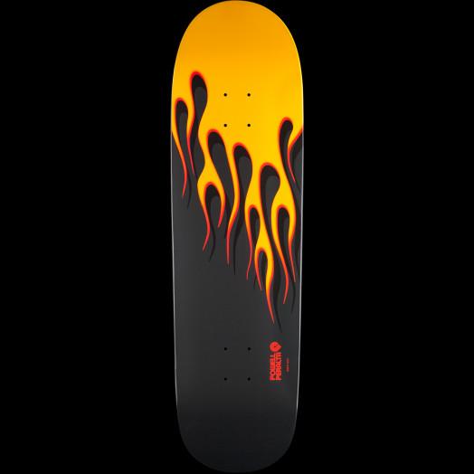 Powell Peralta Hot Rod Flames Skateboard Deck Yellow - 9.375 x 33.875
