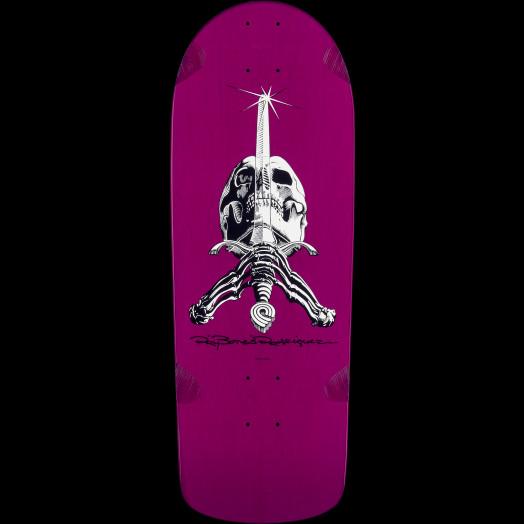 Powell Peralta Rodriguez Skull And Sword Blem Skateboard Deck Purple - 10 x 28.25