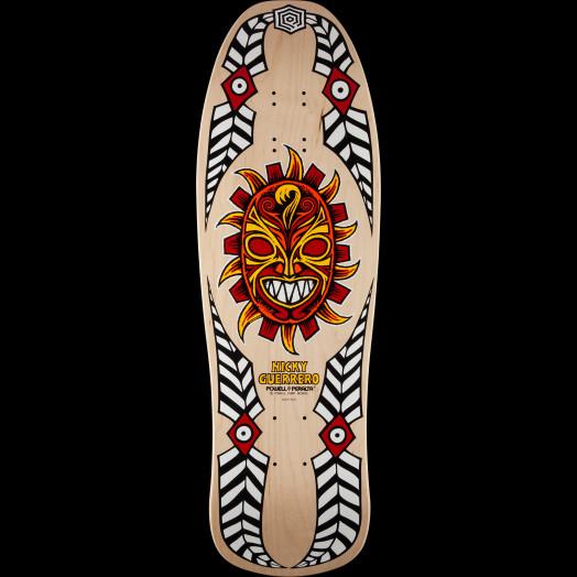 Powell Peralta Guerrero Mask Skateboard Deck Natural - 10 x 31.75