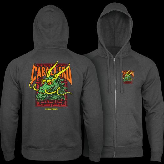 Powell Peralta Cab Street Hooded Zip Sweatshirt - Charcoal Heather